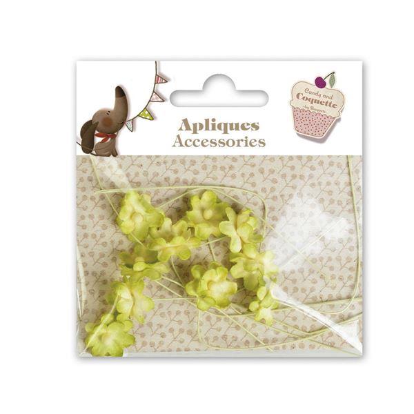 10 mini flores amarillas - A606450