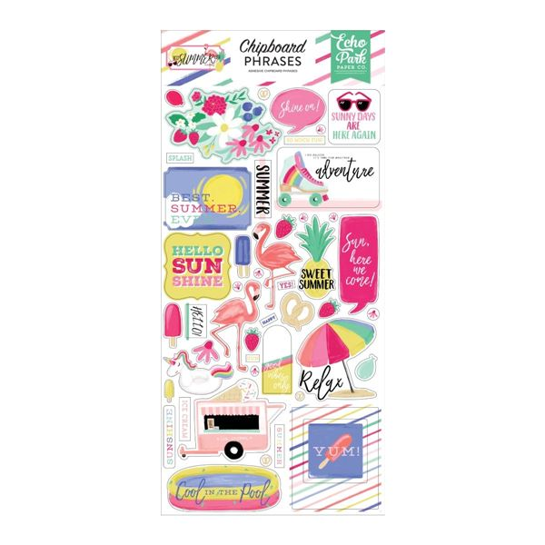 Chipboard phrases best summer ever - BS182022