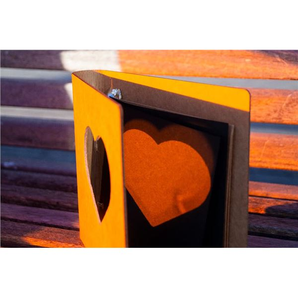 Álbum kraft corazón 15x15cm lomo flexible - BK015-02C