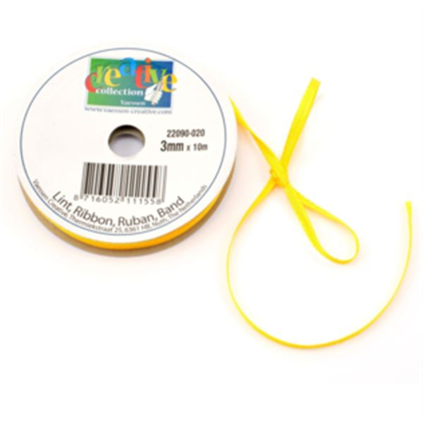 Lazo satinado-amarillo 3mmx10m - 22090-020