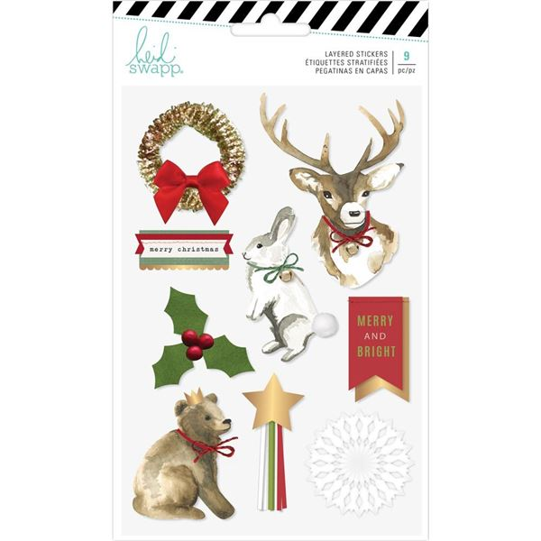 Layered stickers winter wonderland - 0001487979