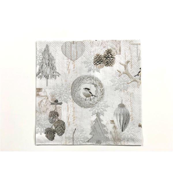 White decorations 33x33cm (1 unidad) - 8712159147162