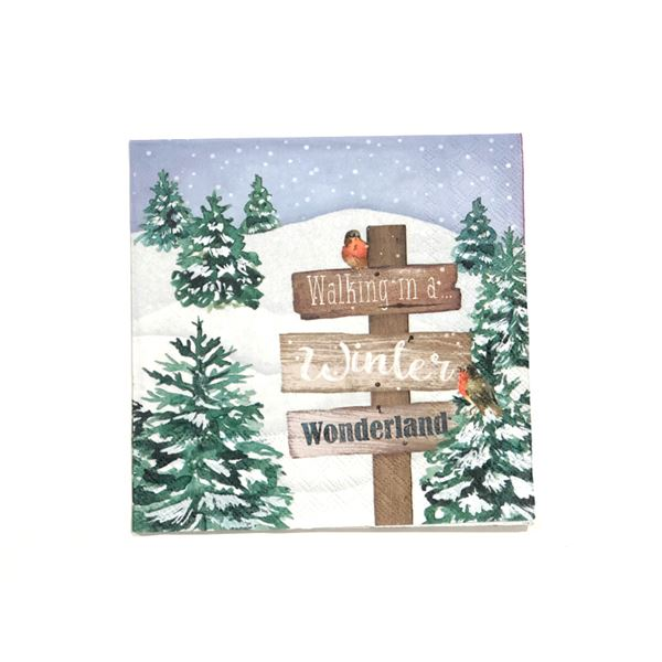 Winter wonderland 33x33cm (1 unidad) - 8712159146905
