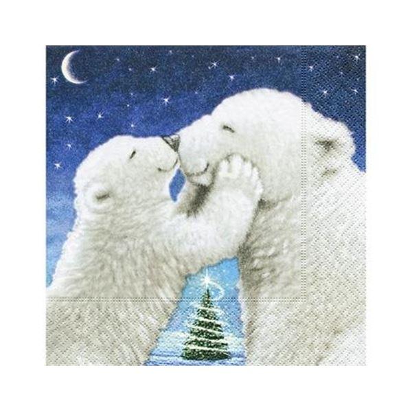 Polar bear 33x33cm (1 unidad) - P600003