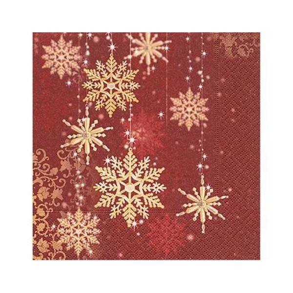 Golden snowflakes 33x33cm (1 unidad) - P600017