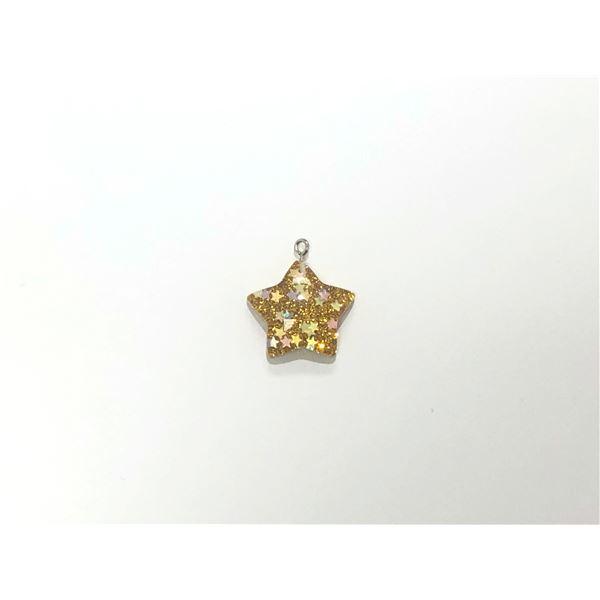 Charm resina estrella dorada 2.5cm - ESTRELLAORO