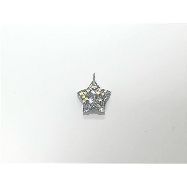 Charm resina estrella plateada 2.5cm - ESTRELLAPLATA