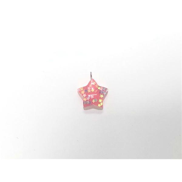 Charm resina estrella rosa 2.5cm - ESTRELLAROSA