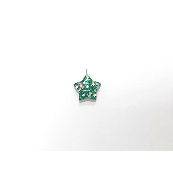 Charm resina estrella verde 2.5cm - ESTRELLAVERDE