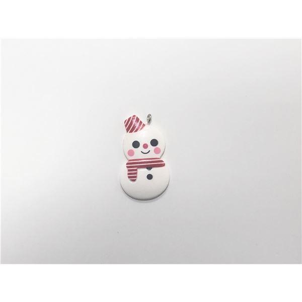 Charm resina muñeco de nieve 4cm - RESINAMUÑECO