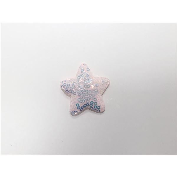 Estrella acolchada blanca 2.5cm