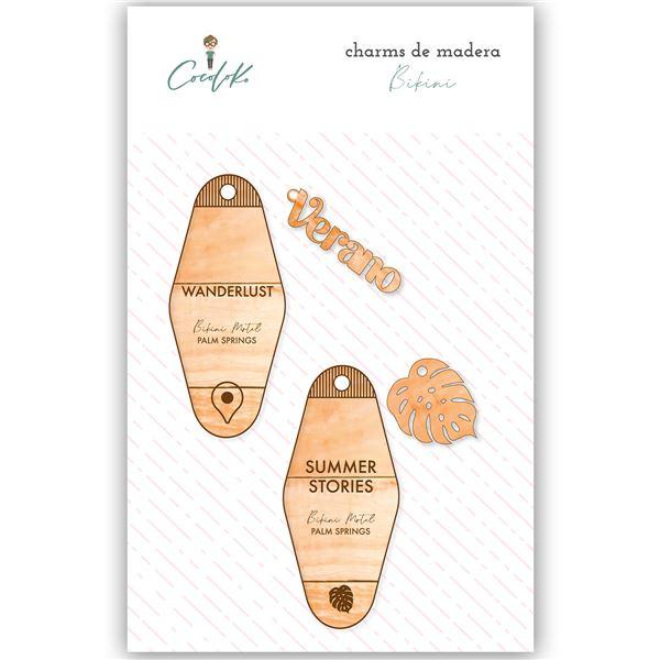 Charms de madera bikini - 0650414845287
