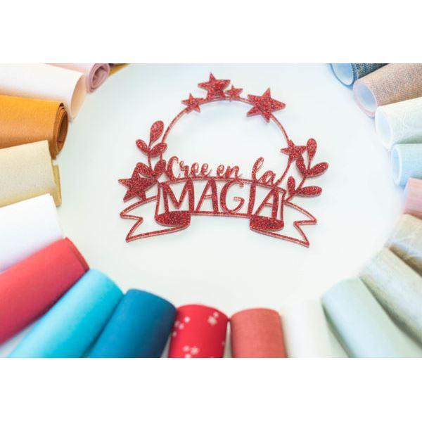 Shaker metacrilato rojo purpurina magia - JRSHA08