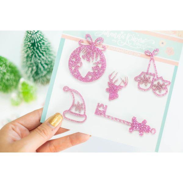 Pack bisuteria guantes y gorro rosa - JRBISU002.12