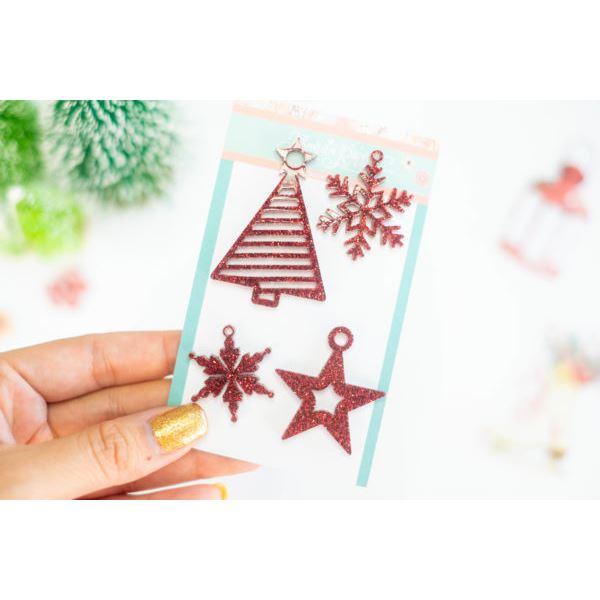 Pack bisuteria árbol y estrellas de navidad rojo - JRBISU002.3