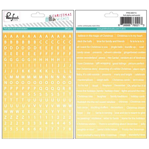 Foil mini alpha/word stickers - 300715