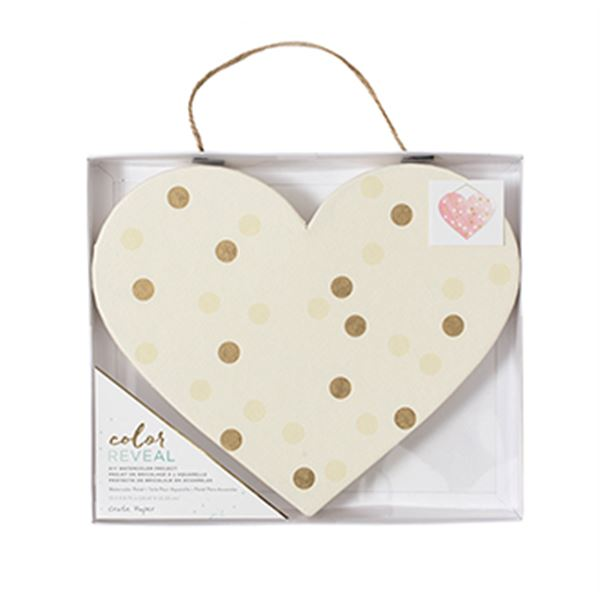 Color reveal heart panel - 375861