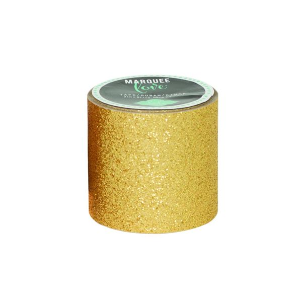 """mmarquee tape-hs-glitter-2""""-gold-8 feet"" - 718813694506"