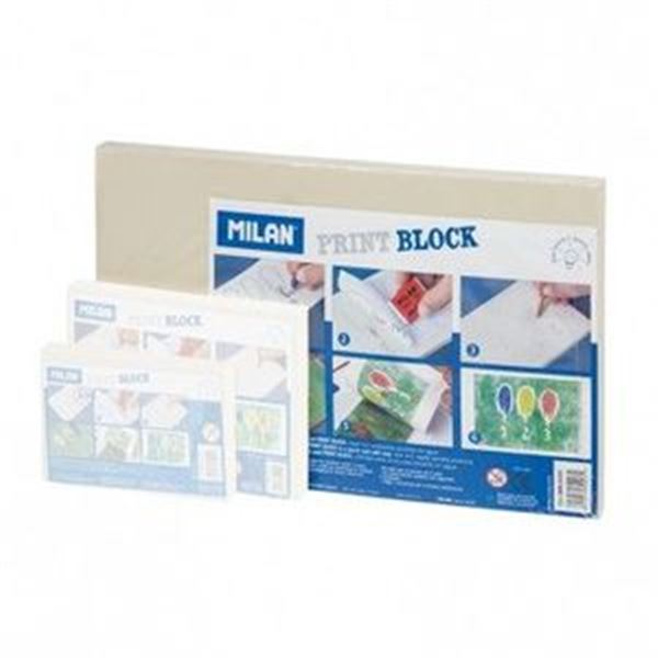 Print block goma para sellos grande 17x28.3x0.9cm milan - 8414034699031