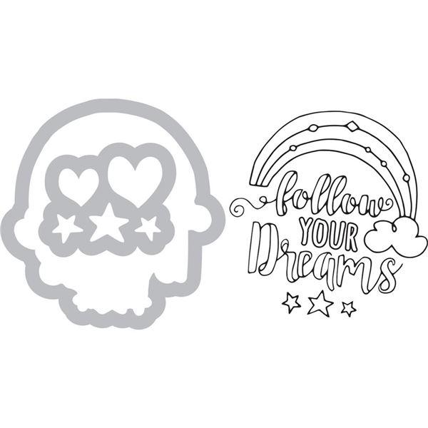 Sizzix sello y troquel-follow your dreams - 0000843950