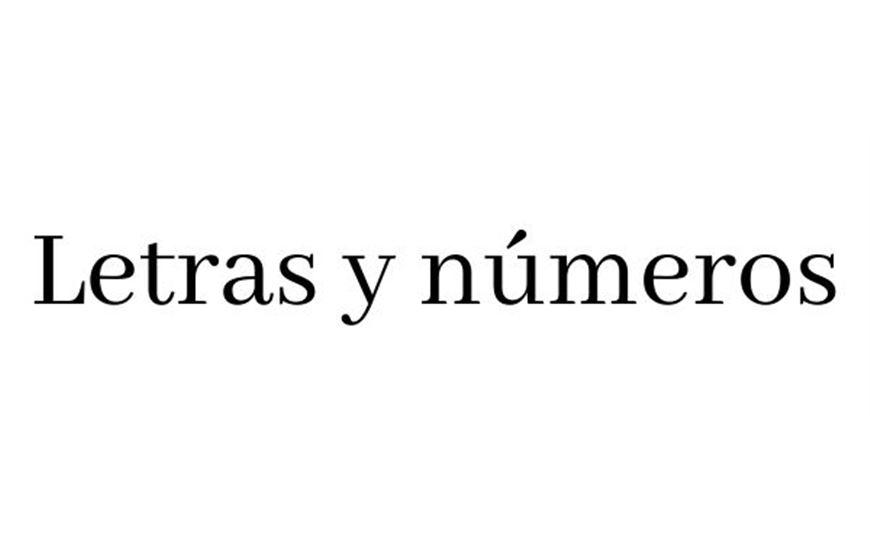 Letras y números de cartón