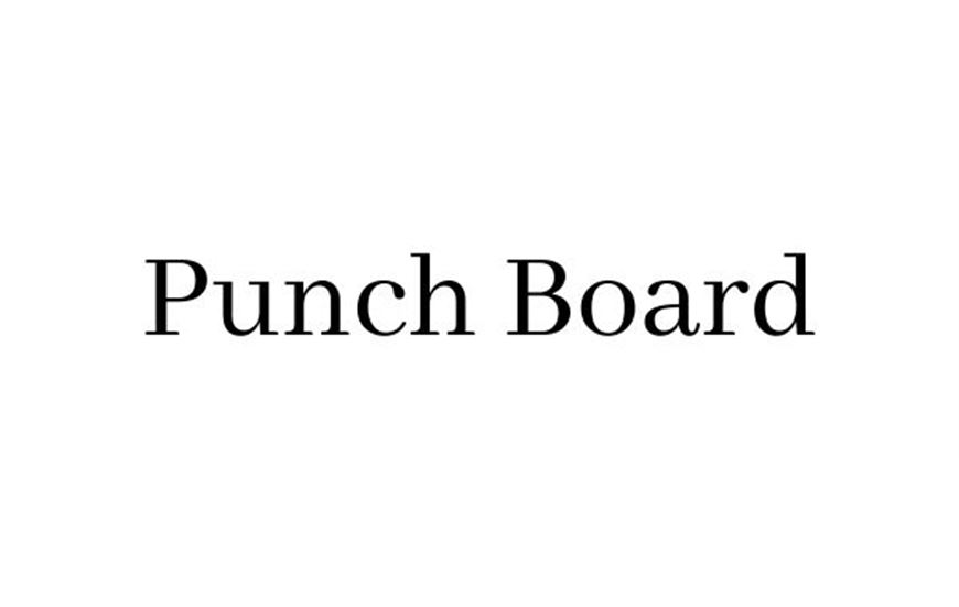 Punch board